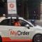 MyOrder 'Parkeren' Promo Fiat met Smartphone op het dak