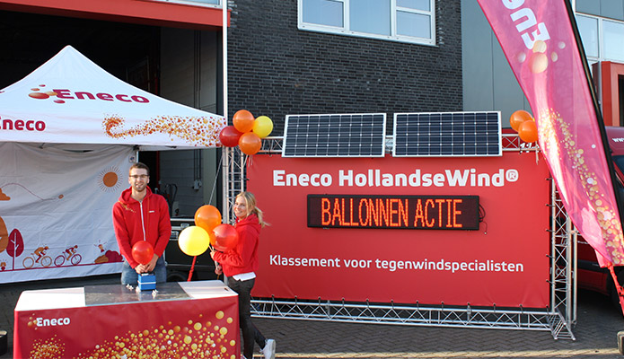 Eneco Ballonnen Uitdeelactie