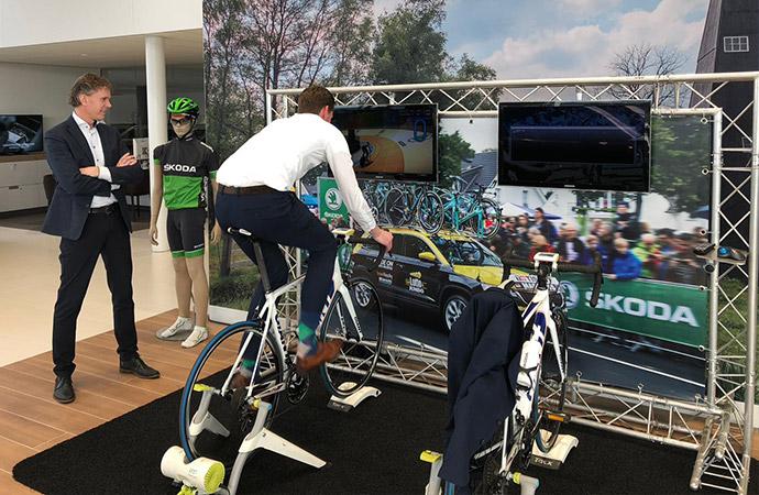 Skoda Tacx Fiets Simulator (2 fietsen) A